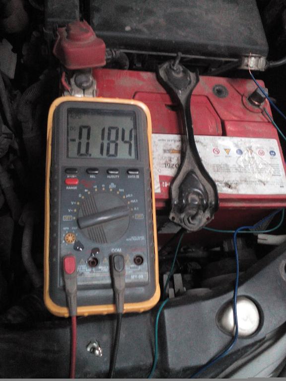 Toyota Land Cruiser Prado 120 разряд аккумулятора, замер тока утечки аккумулятора мультиметром