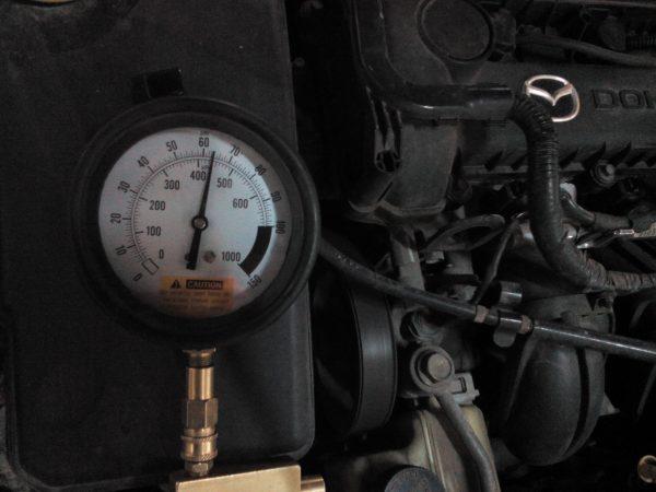 Мазда замер давления топлива ошибка р0171