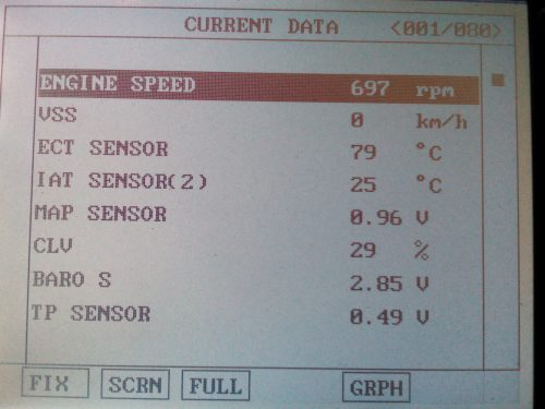 Хонда сканер ошибки данные