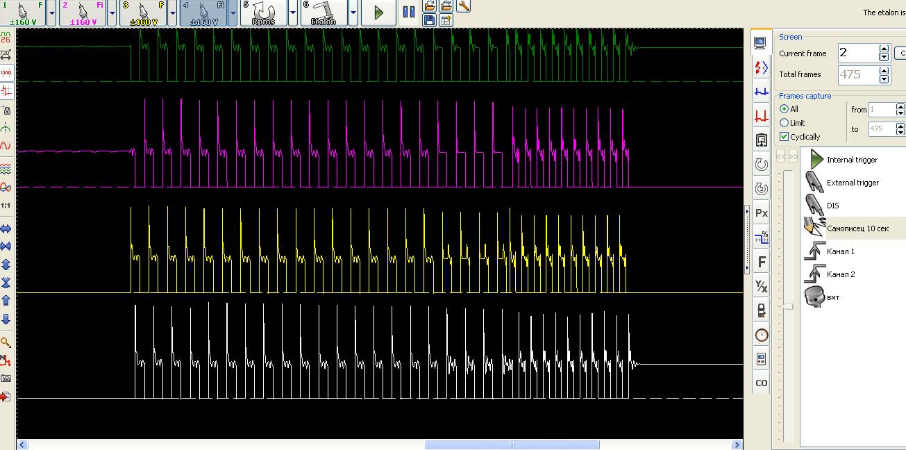 ММС осциллограмма клапана холостого хода