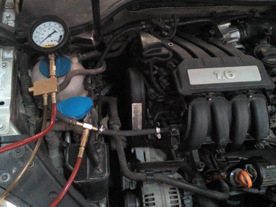 Проверка давления топлива фольцваген