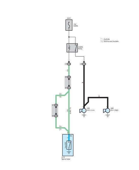 схема сигнала тойота рав4