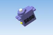 3d модель сервопривода SG90 форматы STEP, STL, MD3