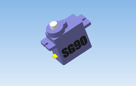 SG90 сервопривод 3D model of servo drive SG90 in formats STEP, md3, STL