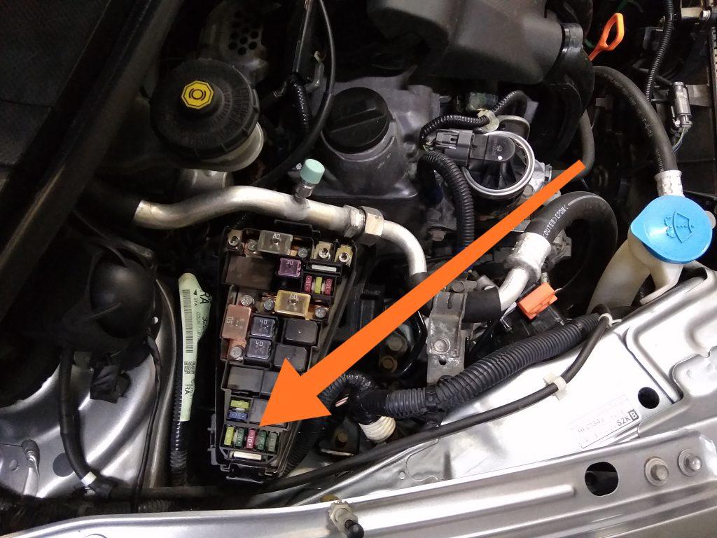 Honda Airwave предохранитель габаритов и прикуривателя
