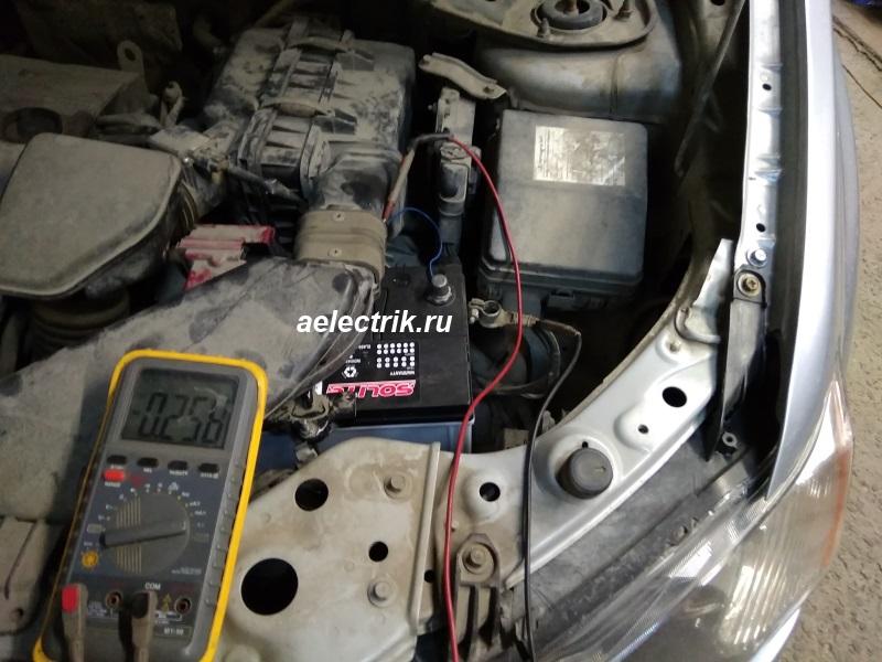 замер тока утечки аккумулятора, тока покоя мультиметром