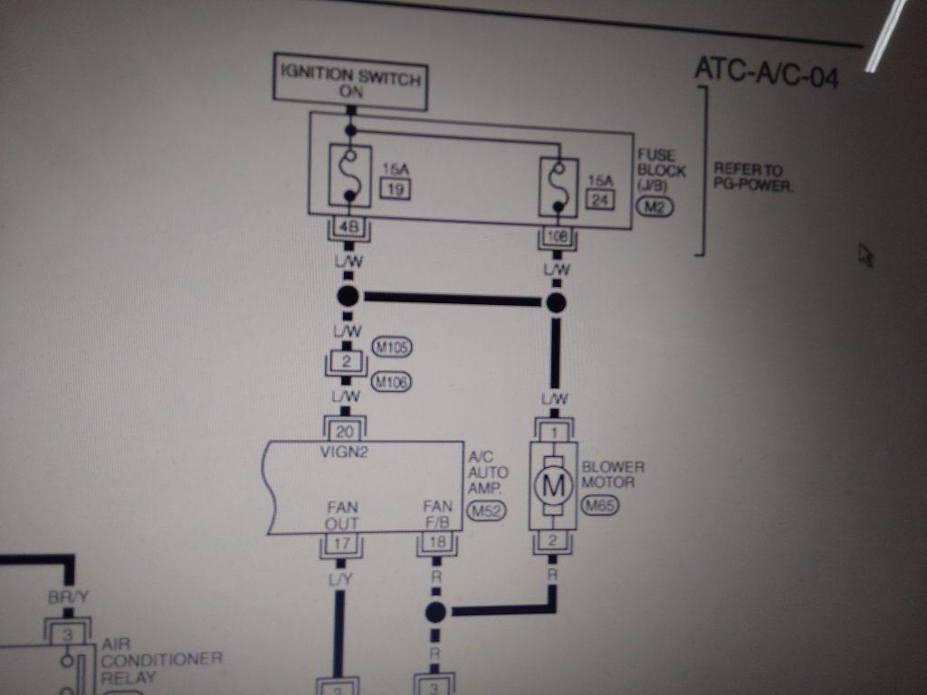 Ниссан х треил предохранители вентилятора отопителя включены параллельно