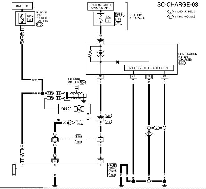 схема генератора ниссан ноут k9k