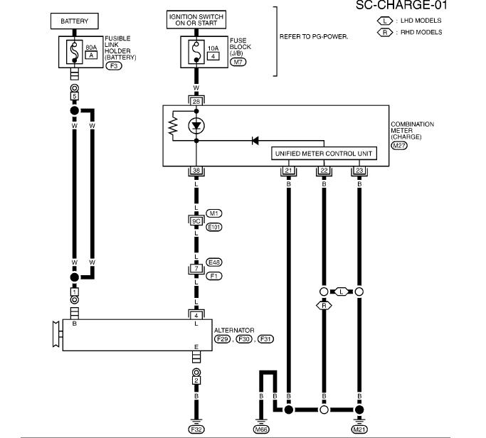 схема генератора ниссан ноут двигатель CR