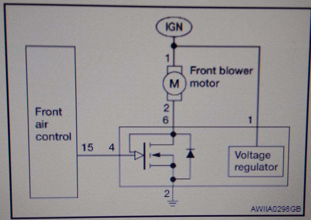 схема вентилятора ниссан тиида