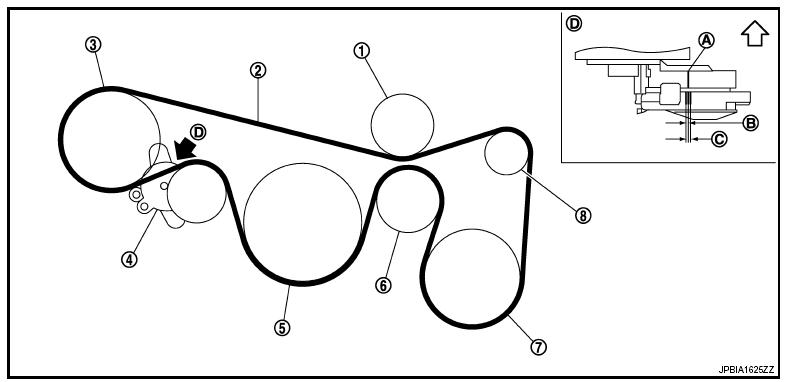 мурано z51 схема приводных ремней