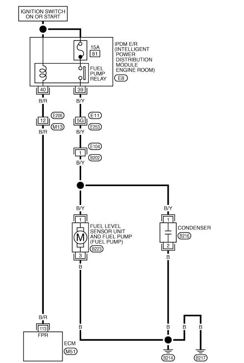 схема бензонасоса теана j31
