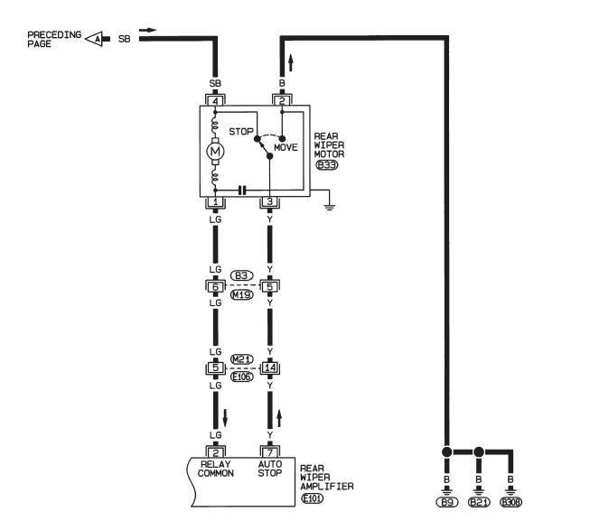 схема 1 заднего дворника альмера н16