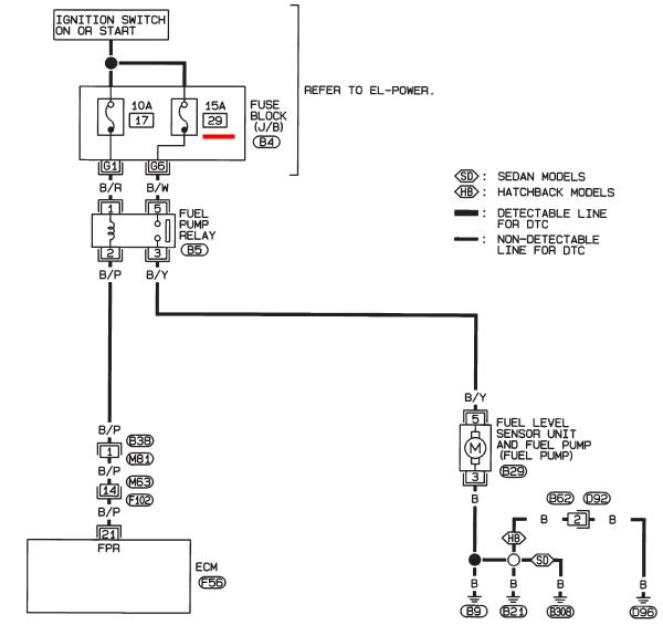 схема бензонасоса альмера н16