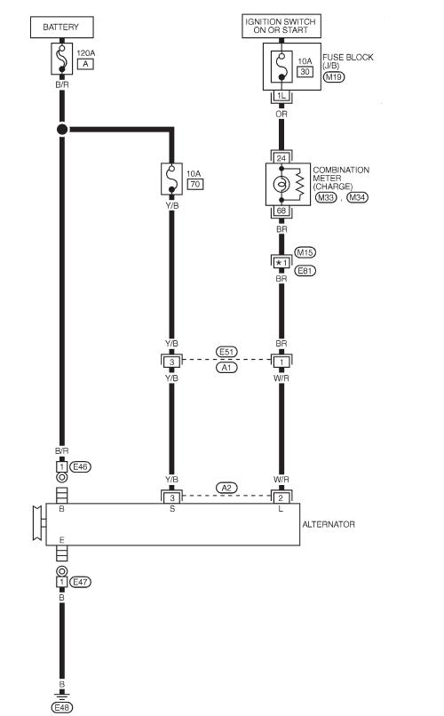 схема генератора ниссан максима а33