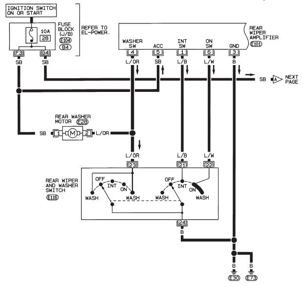 схема заднего дворника альмера н16