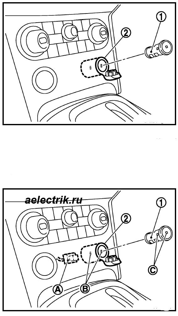 снятие прикуривателя нисса кашкай
