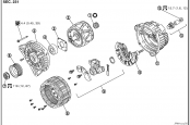 Nissan Qashqai alternator circuit