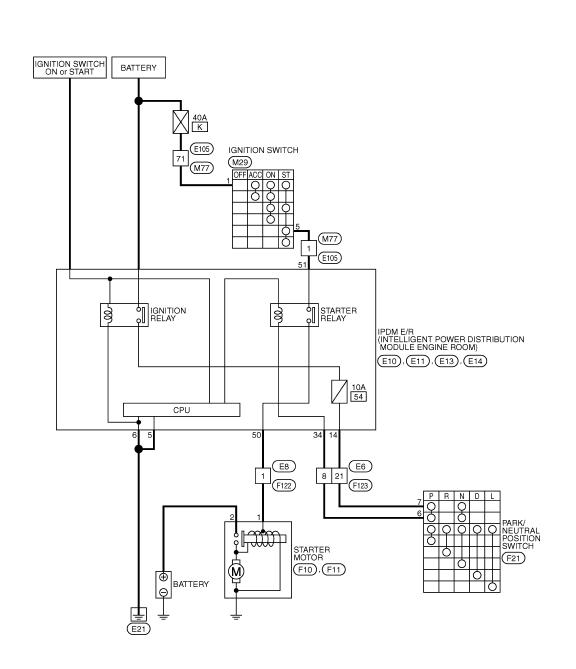 схема включения стартера ниссан кашкай вариатор