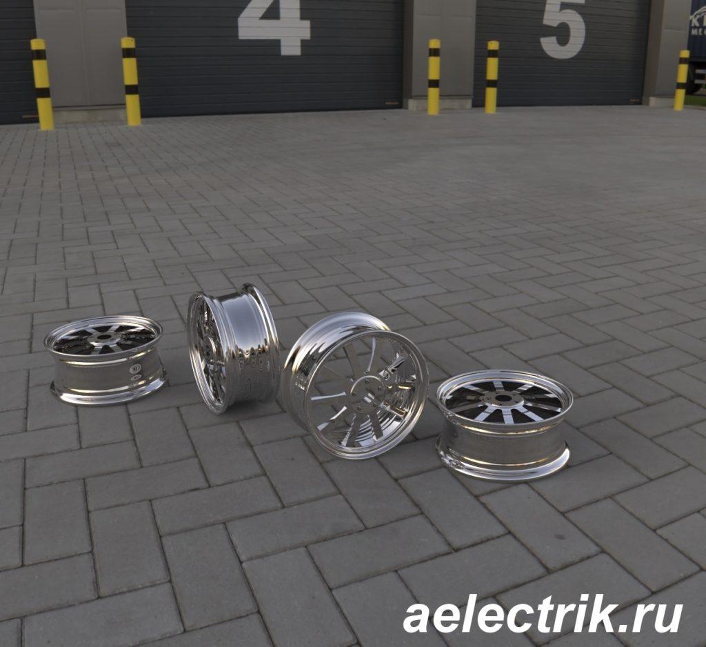 3д модель диска созданная в компас 3д, построение, рендеринг