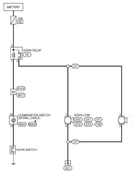 схема сигнала ниссан жук