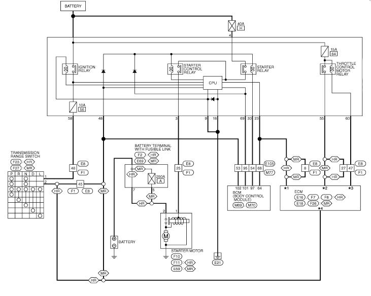 электросхема стартера ниссан жук