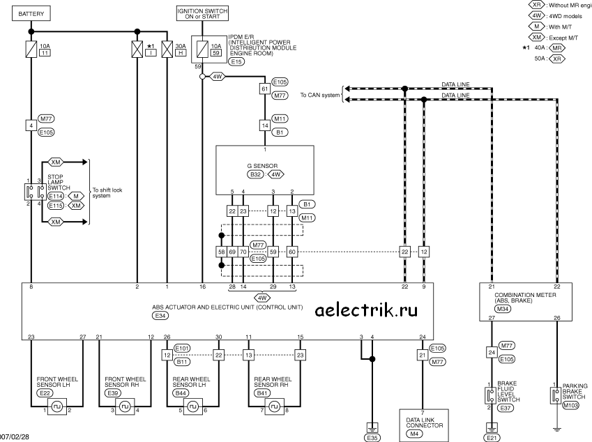 схема абс ниссан т31