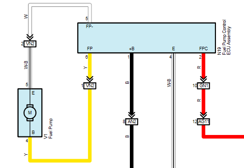 схема бензонасоса рав 4 2015