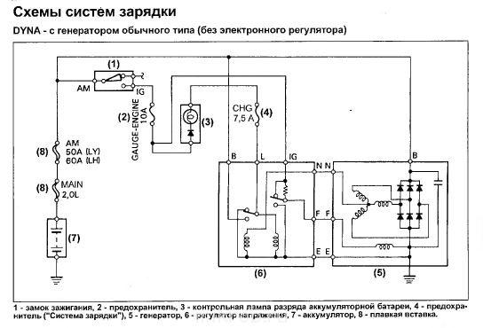 схема генератора тойота дюна