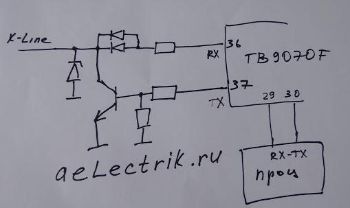 схема блока управления двигателя