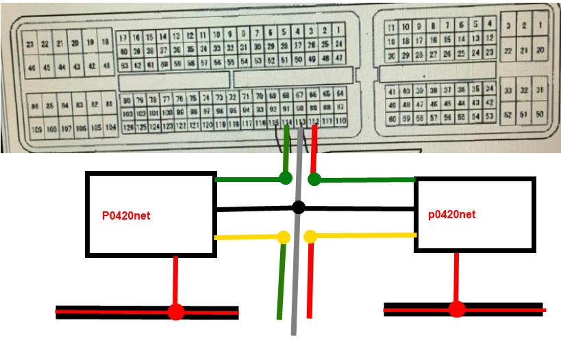 тойота тундра подключить эмулятор катализатора схема распиновка эбу