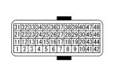 схема и распиновка блока управления акпп кашкай