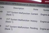 Ошибки P1349 и P1346 Lexus