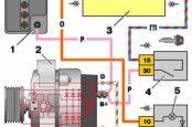 Цветная электросхема ВАЗ 21102, схема предохранителей и реле