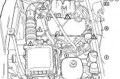Ваз 2104 система управления двигателем, расположение элементов