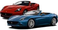 Размер щёток стеклоочистителя для Ferrari California