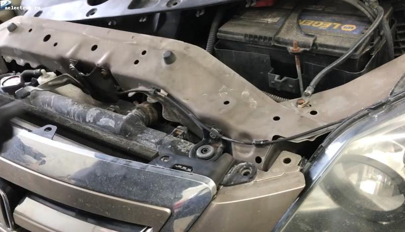 Honda Odyssey снятие переднего бампера