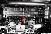 Предохранитель и реле бензонасоса BMW X5 E53