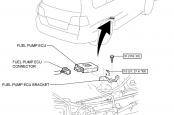 Реле и предохранитель бензонасоса Lexus LX570