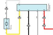 Тойота Рав 4 2015+ схема бензонасоса
