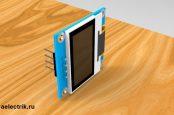 3D model OLED display 128x64 adafruit STEP