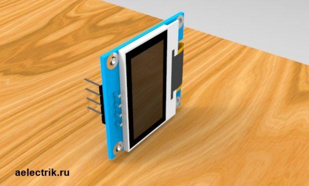 китайский дисплей с алиэкспресс 128 на 64 пикселя