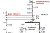 Схема звукового сигнала Паджеро спорт