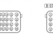 MMC Outlander 3 схема ЭБУ 4B1