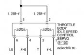 Схема клапана холостого хода Лансер 9