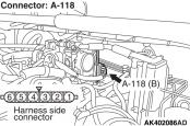 Ошибка P2135  Mitsubishi Colt