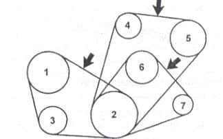 Схема приводных ремней Тойота Сурф 95-02