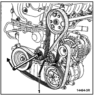 Renault Clio Symbol схема и снятие ремня