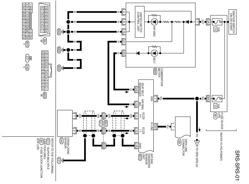 Инфинити FX35/FX45 схема и распиновка SRS