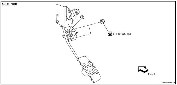 Инфинити FX35/FX45 распиновка, схема и снятие педали акселератора